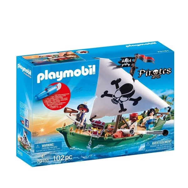 Playmobil Piratenschuit met  Motor