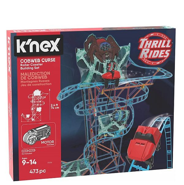 K'nex Thrill Rides Cobweb Curse Roller Coaster Building Set