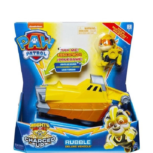 Paw Patrol Mighty Pups Charged Up Rubble Voertuig
