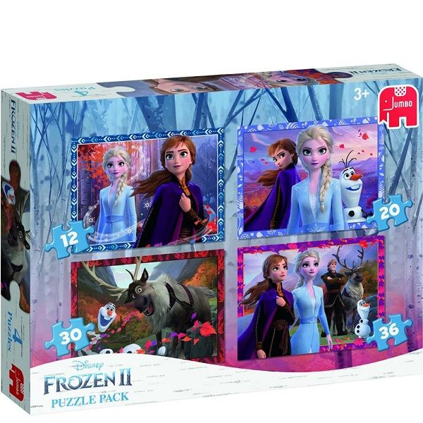 Frozen 2 Puzzel 4 In 1 Pack